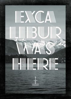 Excalibur was here Art Print by Marco Oggian | Society6