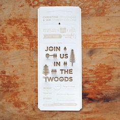 design work life » Christine & Ian's Wedding Invitations
