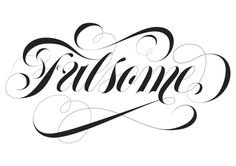 Spencerian lettering by Adria Molins design Barcelona - http://bit.ly/1lEq14Z