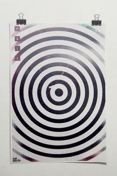 Fall on the Behance Network #print #fall #shapes #circles #geometric #vintage #poster #valverde #cristian