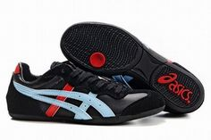 Asics Whizzer Lo Black/Blue/Red Men's #shoes