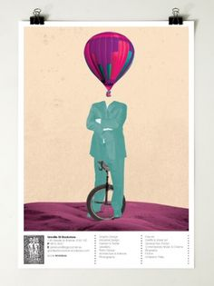 Greville St Bookstore : Motherbird #air #hot #balloon #poster #surreal