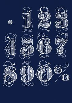 Typeverything.comHand lettered custom numbers by Bobby Haiqalsyah. #type #numbers