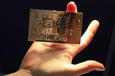 Steve Li business card on Behance #cut #business #card #laser #acupuncture #clever