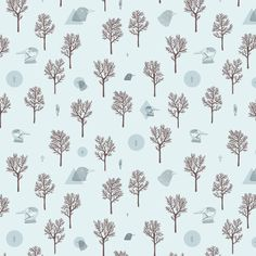 Patterns on Behance #blue #pattern #trees