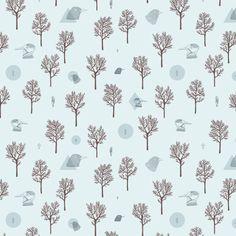 Patterns on Behance #blue #pattern #trees