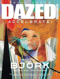 Dazed & Confused August 2011 Cover | Bjork by Sam Falls #art #magazine #bjork #dazedconfused