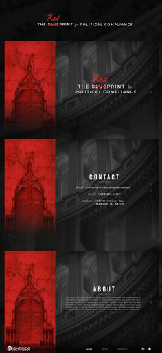 Rightside Compliance - Alex Jefferson #web design #political #layout