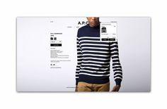 A.P.C. Redesign #APC #Webdesign #minimal #fashion #paris #blue #girls #web #digital #photography #editorial #clothing #branding #edouardspri