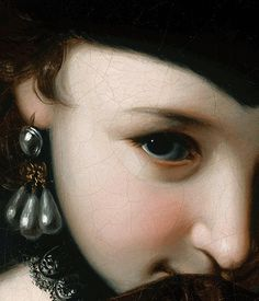 Girl With a Book (detail), Pietro Rotari (c. 1750 62) #girl #earring #close #illustration #up #painting #beauty