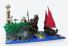 Turtle Island finished layout | Flickr Photo Sharing! #tah #lego #http #wwwflickrcomphotosqi