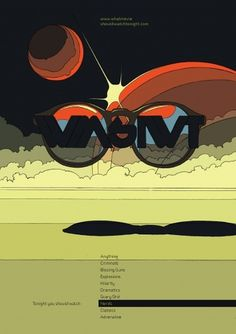 Kevin Yaun Portfolio #glasses #nerds #design #space #scifi #poster #planets