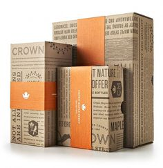 Crown Maple #packaging #rint #box