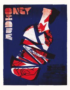 GigPosters.com - Sleepy Sun - Mudhoney #screen #gig #print #poster