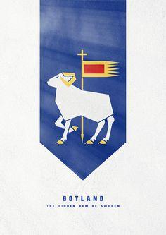 Gotland #sweden #of #gotland #sverige #poster #coat #arm