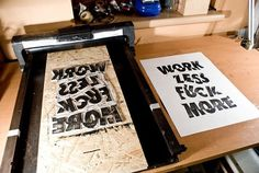 Badge-You | Slanted - Typo Weblog und Magazin #fuck #work #linocut #typography