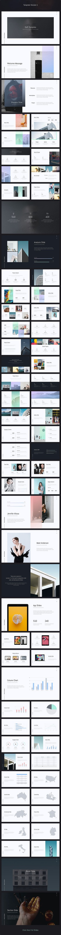 Soft - Minimal Template (Powerpoint) by SimpleSmart | GraphicRiver