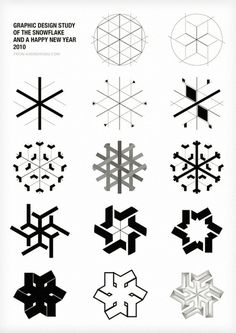 takeovertime:urbsarch:purestform:Snow Flake Study #graphic design