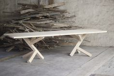 45 Kilo by Konrad Bialowas #minimalist #table #furniture