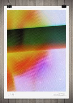 Image of Studies in Broadcast Colour 8 111 x 76cm$390 #poster