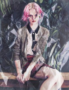photorealistic fashion spread paintings 2 #painting #paintings