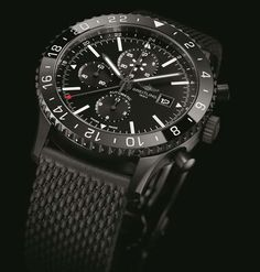 Breitling Unveils The New Chronoliner Blacksteel #Breitling #InstrumentsforProfessionals #captain #luxury #menswatches #BreitlingWatches