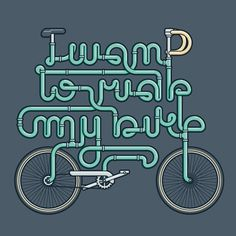 CMYBacon #bicycle #bike #typography
