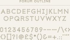 Forum_Typefaces_01 #01 #forum #typefaces