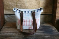 FORESTBOUND — 1950's era Farm Feedsack Tote Bag #fashion #bag #travel