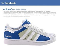 Adidas Facebook Superstars on the Behance Network #facebook #adidas