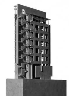Higashi Azabu Office Building - Model | Morphopedia | Morphosis Architects #model #morphosis #azabu #architecture #higashi