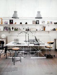Nice lil' cosy studio workspace #spaces #studio