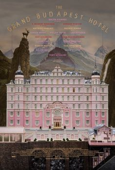 The Grand Budapest Hotel, Wes Anderson #movie #poster #film