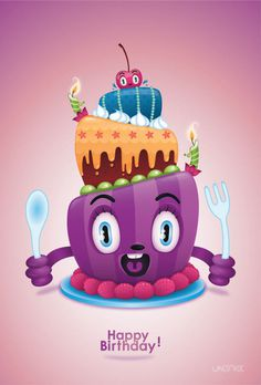 Birthday Cake on Behance #cake #illustration #birthday