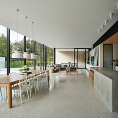 Minimalist Modern House Designed to Expose the Beauty of Raw Concrete