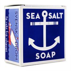 Kala Swedish Dream Sea Salt Soap 4.3oz Soap Bar at Smallflower.com: Soap #packaging #soap #design