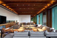 Brazilian Holiday Home by Bernardes Arquitetura wooden cladding brazilian holiday home #design #living #decor #home #gecor #room