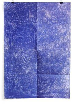 Clikclk - PAUL SAHRE : graphiste américain #ink #illustration #pen #blue #typography
