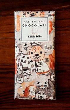 Edible Selby ISA party photos #dogs #chocolate #illustration #elible #selby #brothers #mast