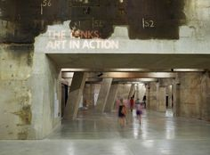 The Tanks wayfinding & signage | Cartlidge Levene