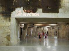 The Tanks wayfinding & signage | Cartlidge Levene #signage #texture #museum #modern