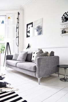 (via A Merry Mishap: sneak peek) #interior #sofa #white #modern #furniture
