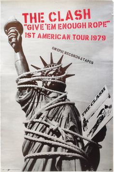 The Clash American Tour Poster, 1979