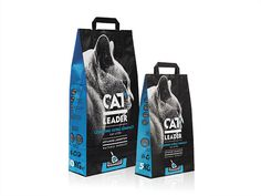 Cat Leader #premium #packaging #litter #shop #design #cat #natural #pet #typography