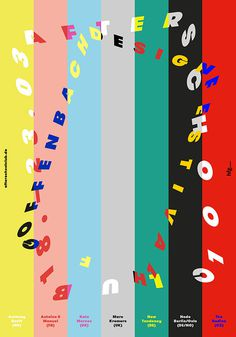 Dynamic typography. #dynamic #print #stripes #colorful #poster #type #typography
