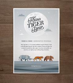 Rhino Tiger Bear Branding Design by Jimmy Gleeson #logotype #thino #branding #rhino #bear #tiger