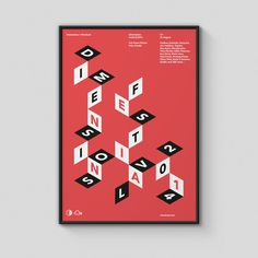 Ross Gunter Dimension Festival #shapes #poster #typography