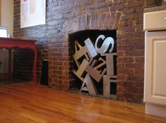 All sizes | Our solution to a non-working fireplace: old letters | Flickr - Photo Sharing!