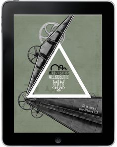 Metropolis city guide app #app #sci fi #metropolis #tablet #yonatan ziv