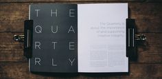 The Quarterly #print #typography #publication #photography